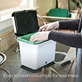 Full Circle Fresh Air Compost Collector, Green Slate
