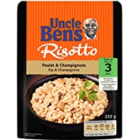 UNCLE BEN'S Risotto Poulet et Champignons - Express 3 min micro-ondable - 250 g - Pack de 6
