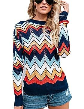 Minetom Mujer Suéter Moda Casual