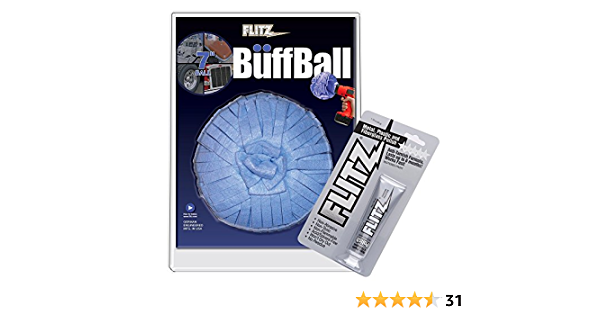 Flitz Wb201 50 Blue X Large Original Buff Ball In Clamshell 17 8 Cm Auto
