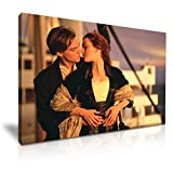 Titanic Jack und Rose Romantic Movie Gespannte Leinwand Druck 76 cm x 50 cm