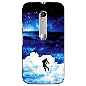 CrazyInk Premium 3D Back Cover for Moto G3 - Blue Night Theme Art