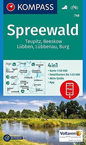 Spreewald 748  1/50.000 par KOMPASS