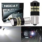 NATGIC 1200LM Xenon Weiß 1156 Glühbirnen Lichter extrem helle 48-SMD 4014 Chipsätze 7506 1095 1141 Lampen mit Projektor für Blinker Signal Hintergrundbeleuchtung Hintergrundbeleuchtung (2 Stück)