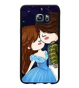 Printvisa Ultra Cute Love Couple 2D Hard Polycarbonate Designer Back Case Cover for Samsung G...
