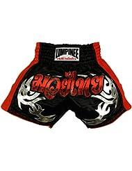 Lumpinee Viper Snack Retro Muay Thai Kick Boxing pantalones cortos lumrto-011, hombre mujer Infantil, color rojo/azul, tamaño XXL