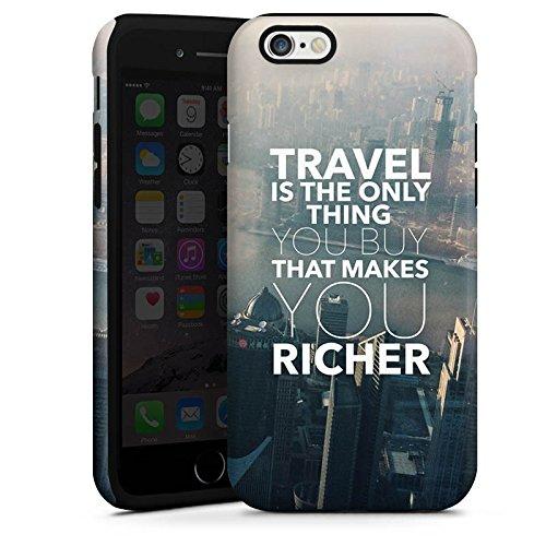 Apple iPhone X Silikon Hülle Case Schutzhülle Sprüche Reisen Stadt Tough Case glänzend