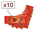 Zig Zag cartine Arancione x 10