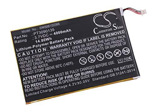 vhbw Litio polímero batería 4000mAh (3 7V) para Tablet RCA Galileo Pro  11 5