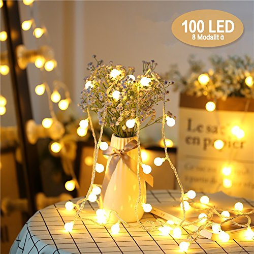 Chenci HOM-00243, catena luminosa con 100 LED da 13 metri