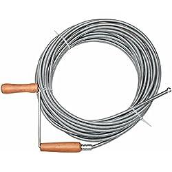 Flexible de nettoyage pour tuyaux spirale de nettoyage nettoyeur de tuyau spirale 15m D. 9mm