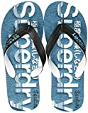Superdry Scuba Perforated Flip Flop Infradito Uomo, Multicolore (Black/Optic White/Bright Blue W2y), 42-43 EU (8-9 UK)