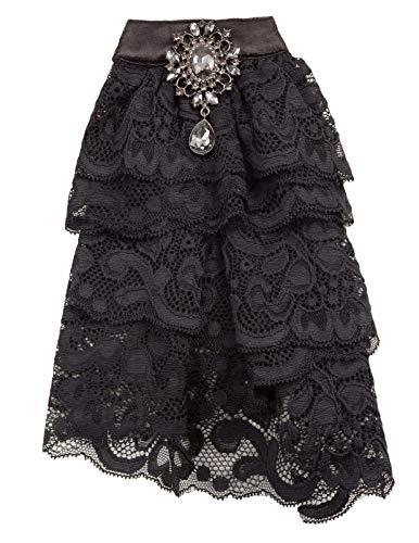 SCARLET DARKNESS Damen Gothic Steampunk Elisabethanischen Spitze Jabot Halskragen - Elisabethanischen Kostüm