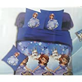 Glace Cotton Single Cartoon BEDSHEET With 1 Pillow Covers(Album Packing) (Sofia)