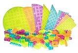 Strictly Briks - Premium-Anfänger-Set - 119 Bausteine & Bauplatten - Steine mit Großen Noppen - Kompatibel mit Großen Bausteinen Aller Führenden Marken - Grün, Blau, Magenta und Orange
