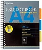 Collins 64PBEDX3 Essential A4 Project Book, 250 Pages - Pack of 3