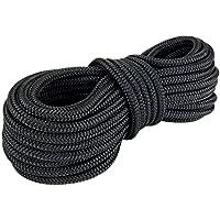 Polyesterseil Seil Polyester 6mm 20m Schwarz Geflochten