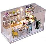 L&R Maison De PoupéesCuisine modèle Doll House Mini maison meubles Kit décoration maison cadeau