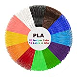 3D Pen Filament Nachfüllungen - 1.75mm 6.1m PLA Filament Pack mit 12 Farben für 3D Druck Pen 3D Drucker-Stift