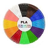 PLA Filament 1.75mm - 3D Stift Filament Ink Filament für 3D Pen 3D Drucker-Stift 3D Stift 3D Drucker 12 PCS, 6M, geeignet für Plusinno,Victorstar,Uvistare,QPAU,Juboury,Lauva,Nexgadget,MOHOO,YESTECH,SUNLU,ohCome,7TECH, Lauva
