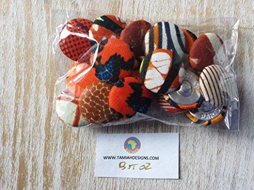 Selection African Ankara Handmade Buttons