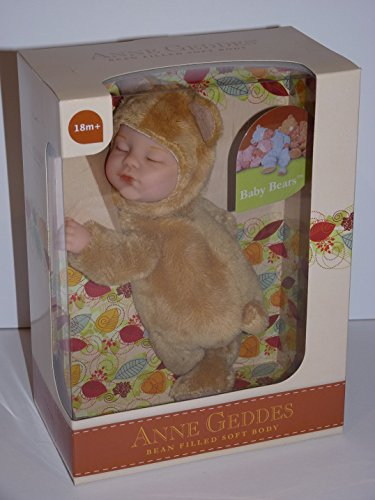 Anne Geddes Light Brown Baby Bear Doll / Hellbraun Teddybär-Puppe (Geddes Bear Anne Baby)