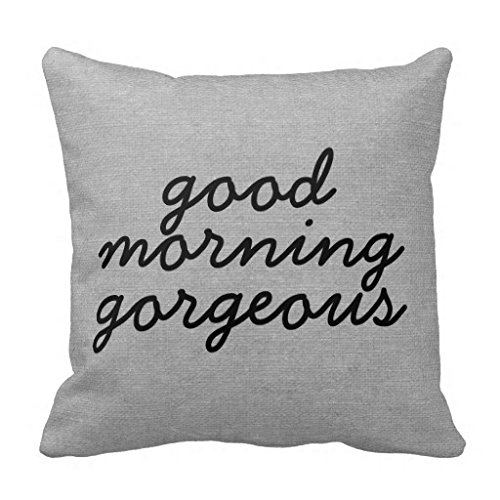 Good Morning Gorgeous rústico Chic Burlap lino Jut manta funda de almohada sofá decorativo funda de almohada 18 x