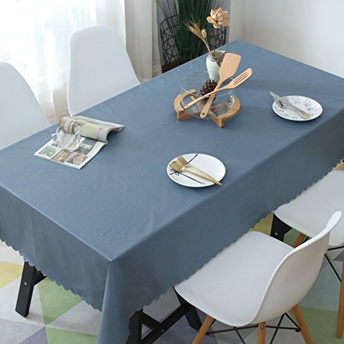 KITnerkned Imperméable Anti-échaudage Huile-Preuve Rectangle carré Nappe de Table,Toile PVC Cuisine Manger Nappe fit Parties & Repas de fête-Blue N 40x48cm(16x19inch)