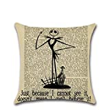 Pillow Case ,FeiXiang Creative Hot Sale ! Happy Halloween Pillow Cases Linen Sofa Cushion Cover Home Decor (D)