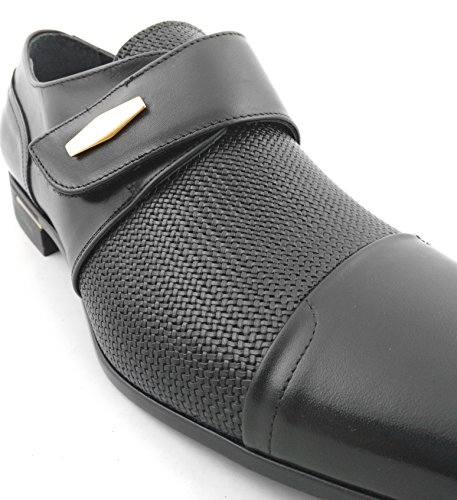 Zerimar Scarpe uomo Pelle di alta qualitá SALDI- ORA O MAI 100% marcatura della moda confortevole ed elegante Nero