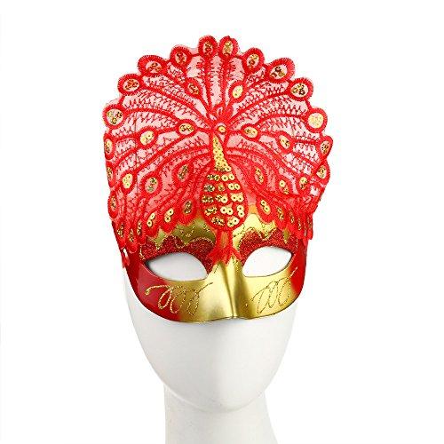 Tagether Halloween LED-Maskerade Maske 2018 Gemalte LED Weihnachten Verkleiden Sich Helle Schnur Maske Fetisch verkleiden sich Glitter Masquerade Maske in Farbe Multicolor,Sexy