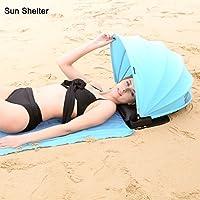 HAIYANLE Tienda de Playa Protección Cara Sun Shelter Ajustable Portable Sun Shade