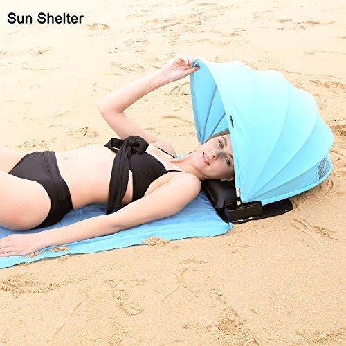 HAIYANLE Verstellbar Sun Shelter Face und Tragbar Sonne Schatten für Strand Garten, Blau …