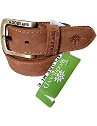 WOODLAND OM INTERNATIONAL Men's Leather Belt (Brown_34)