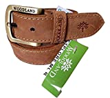 #7: Woodland belts for men boys casual formal stylish premium leather branded original belt specially designed for school office parties brown color by Balaji Stores