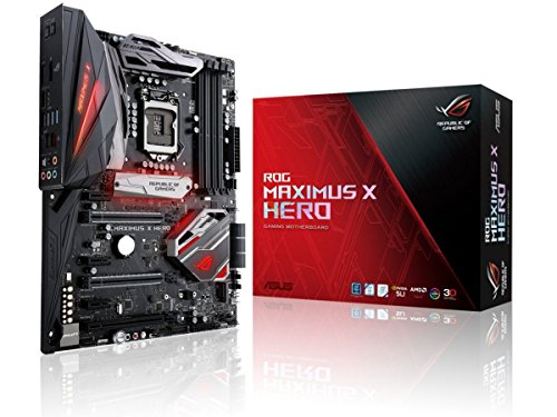 ASUS Intel 1151 Socket Z370 Chipset Maximus X Hero D4 ATX Motherboard – Black