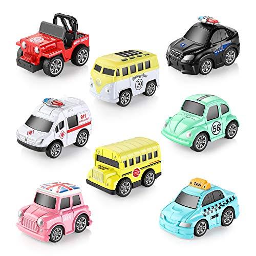 Aufziehautos Spielsachen Spielzeugauto Set Aufzieh LKW und