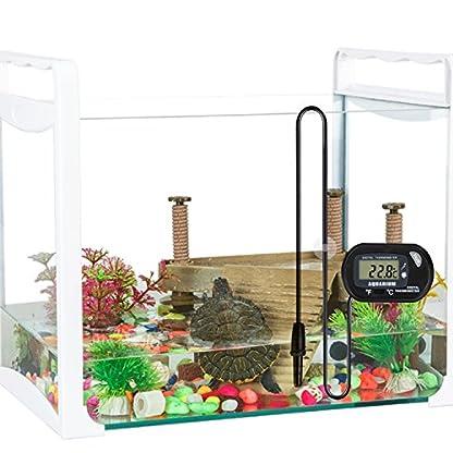 bedee Fish Tank Thermometer Aquarium Thermometer Water Thermometer Submersible Waterproof Digital LCD Aquarium… 6
