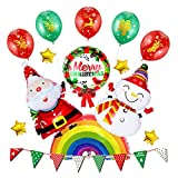 OUTANG Luftballons Bunt Helium Luftballons Deko-Ballon Kinder Ballons Party-Luftballons Heliumballon Latexballons Weihnachtsballone Geburtstags-Ballone