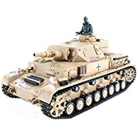Tanque RC Panzer PZ.KPFW. IV F-1 2.4Ghz (Airsoft + Humo + Sonido)