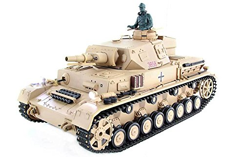 Tanque RC Panzer PZ.KPFW. IV F-1 2.4Ghz (Airsoft + Humo + Sonido)