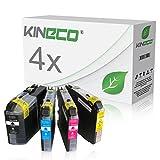 4 Tintenpatronen kompatibel zu Brother LC-225XL 227XL, MFC-J4420DW MFC-J4620DW 4-in1, DCP-J4120DW MFC-J4425DW MFC-J4625DW, Schwarz 28ml, Color je 13ml