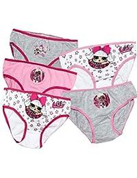 Lol Surprise - Juego de 5 bragas de ropa interior para niñas