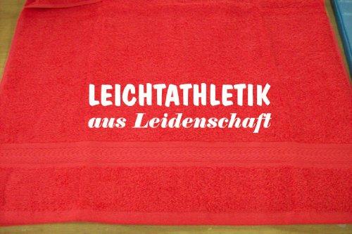 Leichtathletik aus Leidenschaft; Handtuch Sport, rot