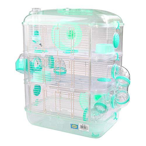 DZL® Cage pour Hamster en Plastique Dur, Abri pour Mangeoire Roue
