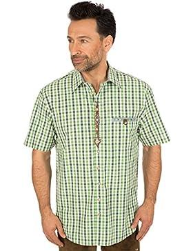 orbis Textil Trachtenhalbarmhemd Gruen