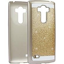 G4 Beat PC Dura, LG G4S Tapa, Asnlove Carcasas y Funda Hard Case, Teléfono Móvil Caja Protectora Dura Colorido Chic Caso, Cover Policardonato Dura Brillo Case Diseño Bling Brillante Protectora Bumper Tapa Trasera para LG G4 Beat-Dorado
