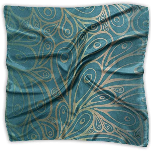 Square Scarf Peacock Feather Abstract Neck Head Unisex Handkerchief Tie For Women (Add-on-schals)