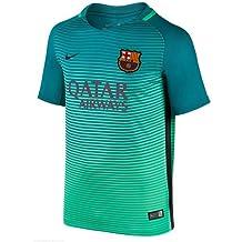 Nike FCB Y Nk Dry Stad JSY 3 Barcelona Camiseta de Manga Corta de Equipación de Fútbol, Niños, Verde Resplandor / Negro (Energía), S