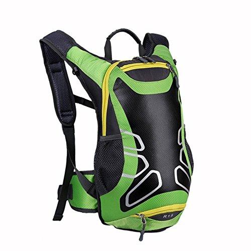 15L wasserdichte Outdoor Rucksack Radfahren Laufen Wandern Wasserbeutel Fahrrad Verpackung Grün